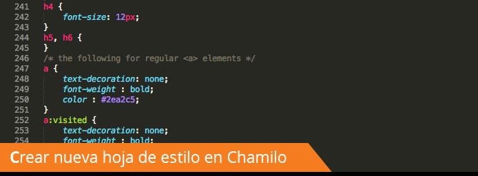 Cómo crear una nueva hoja de estilo para Chamilo LMS