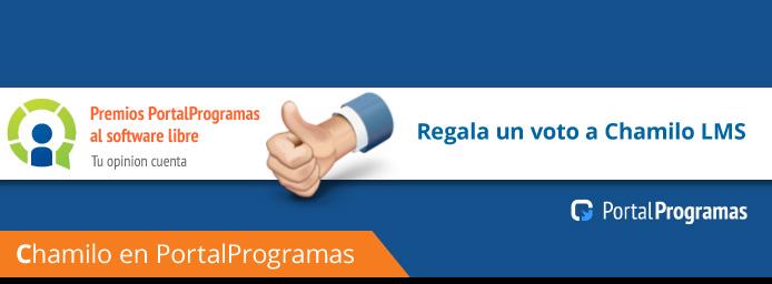 ¡¡Vota por Chamilo E-learning en los Premios PortalProgramas!!
