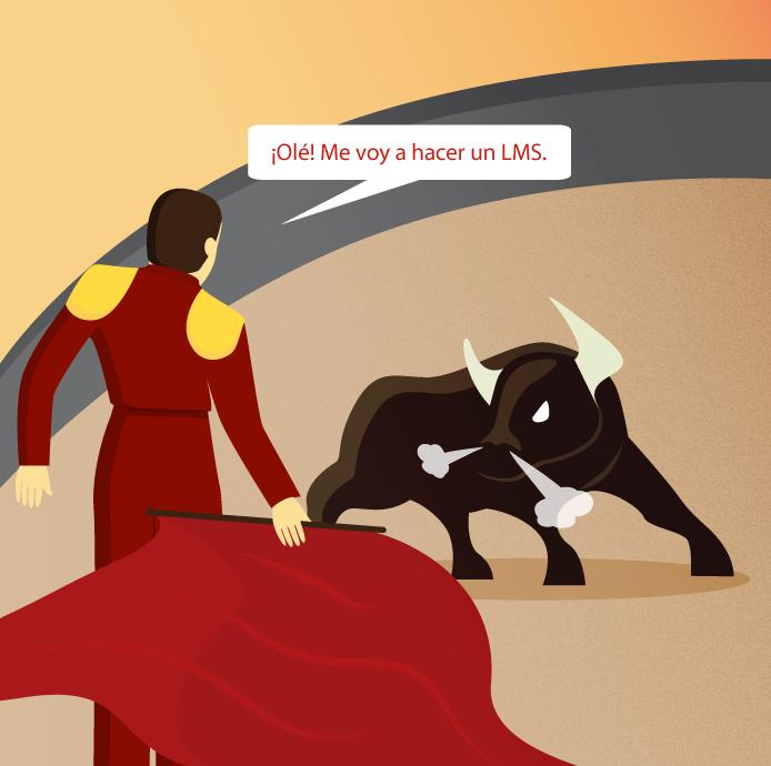 Torero lidiando a un toro